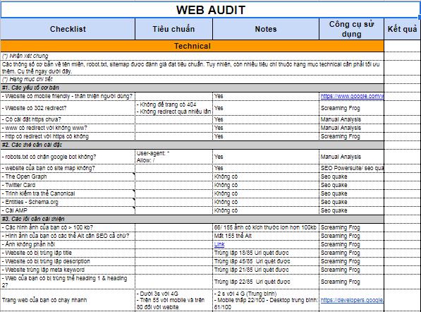 Audit-website
